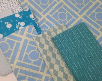 10 Yards of Blue Stashbuilding Fabrics