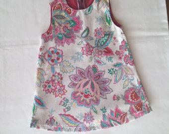 Lined a line floral dress