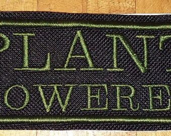 Plant powered iron on patch