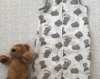 little elephant muslin sleepsack