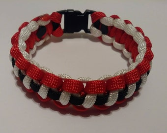 Paracord bracelet, bracelet, Christmas bracelet, Santa bracelet
