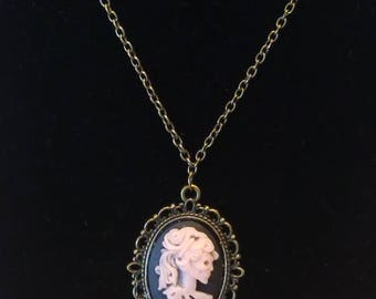 Handmade Vintage/Gothic Style Cameo Necklace.
