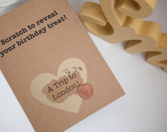 Scratch Card, Funny Birthday Card, scratch Birthday Card, Boyfriend/ Girlfriend/ Husband / Wife, card for boyfriend, card for girlfriend