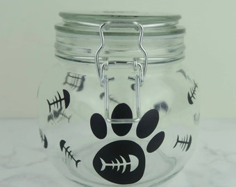 Personalized Cat Treat Jar   Fur Baby   Kitten Canister   Gift