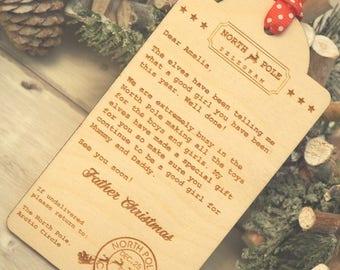 Behaviour chart christmas santa letter kids advent calendar personalised north pole telegram nice list letter from santa father christmas christmas spiritdancerdesigns Images