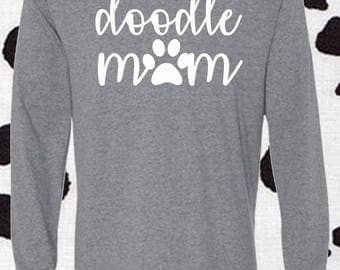 Doodle mom, Doodle, Doodle Mom Lover, Doodle Lover, Labradoodle, Labradoole Lover, Labradoodle Mom, Doodle, Unisex Longsleeve Shirt