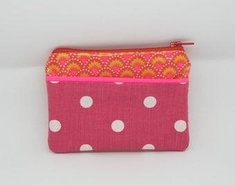 Pink purse and polka dots