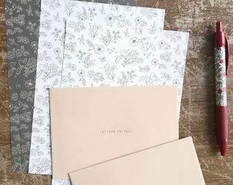 Set carta da lettere Fiori