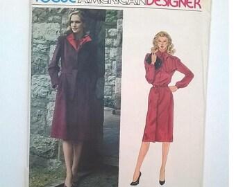 "Vogue American Designer Pattern 2559 - Kasper Coat, Dress, and Belt - Size 16, Bust 38"" - Uncut Sewing Pattern"