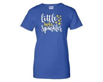 4th Of July Shirt - Little Miss Sparkler - Sparklers - Fireworks - Fourth Of July Shirt