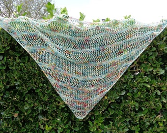 shawl handknitting made in French