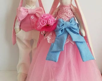sale 30% Wedding decoration Wedding bunny Mariage Interior toy Cotton toy Eco toy Anniversary Cute bunny nursery Wedding gift Stuffed animal