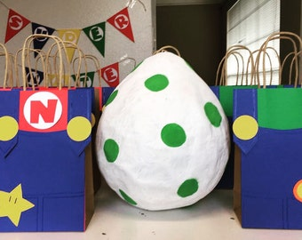 Super Mario Birthday Party Favor Bags/ Favors/ Goodie/ Goody/ Loot/ Candy/ Treat Bags/ Bag/ Supplies/ Decoration