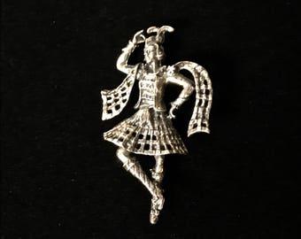 Sterling Silver Scottish Brooch