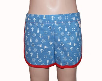 Shorts, Girls Shorts, Summer Shorts, Anchor, 3T