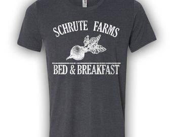 Schrute Farms T- Shirt. Shrute Farms Beets Bed and Breakfast Shirt. Dwight Schrute. The office Shirt. Beets bed and Breakfast. S - 2XL.
