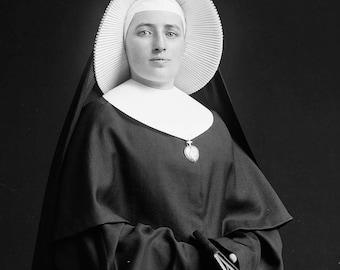 Sister Uriel Instant Digital Vintage Photo Download 1890s Victorian Catholic Scrapbook Collage Mixed Media Junk Journal