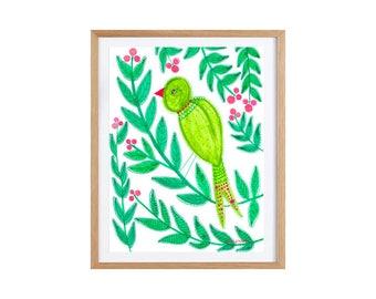 Bird art illustration wall art Giclee print 21 x 29.7 cm / A4
