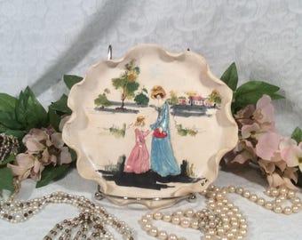 3-D Plate, Lucio Fontana, Italian Majolica Pottery, Mother's Day 1973