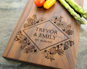 Personalized Cheese Board, Serving Board, Bread Board, Custom, Engraved, Wedding Gift, Housewarming Gift, Anniversary Gift, Engagement #2