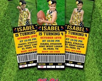 Pittsburgh Steelers Invitation, Ticket Invitation, Steelers Birthday, Pittsburgh Printable, Steelers Football Invitation, star#06