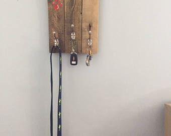 Custom Family hook rack, Custom key hooks,  Patio hooks, Hat rack, Custom rack, Leash hooks,  Coastal Decor