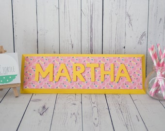 Personalised name plaque, door plaque, door sign, kids name plaque, room sign, bedroom door sign, nursery decor