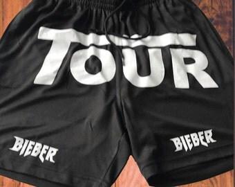 Purpose World Tour Stadium Black SHORTS Stadiums Merch Bieber