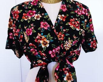 Vintage Cristin Stevens Floral Blouse