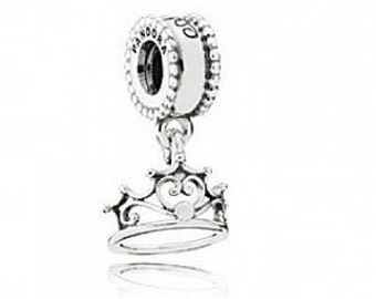 NEW Authentic Genuine Pandora Silver Disney Ariel's Tiara Dangle Charm 791569
