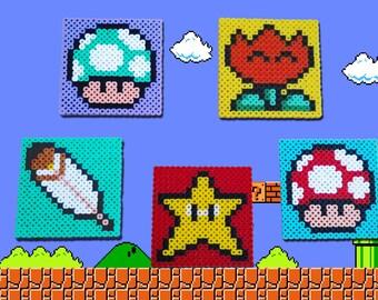 5 coasters Pack Mario Bros