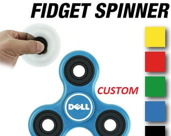Personalized CUSTOM Wholesale Hand Fidget Tri Spinner Stress Reducer Desk Toy Finger Focus - Custom Fidget Spinners