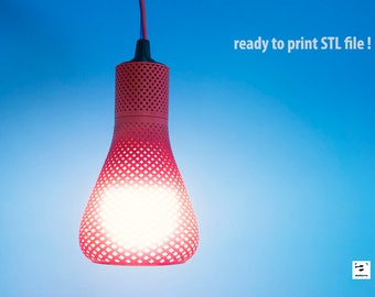 Spiral patterns lampshade // Home decor // Geometric // Great gift - ready to 3D print STL file