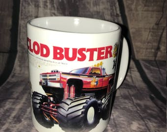 Clod Buster RC Coffee Mug with optional Keychain, gift for rc lover, RC Car Coffee Mug, Gift for Him, Radio Controlled Car Mug, RC car gift