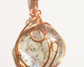 Luster - Glass Gem Wire Wrapped Pendant