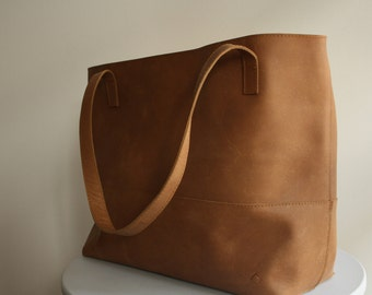 Leather Tote - Tote Bag - Rustic Large Distressed Leather Tote - Brown Leather Bag - Leather Bag - Leather Tote Bag - Oversized tote