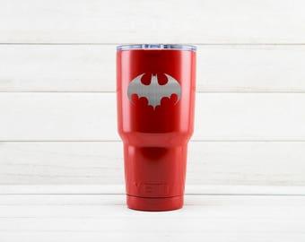 Yeti Tumblers Engraved With Batman Personalized Yeti Tumblers 20 oz Batman Yeti Gift For Men Batman Yeti Rambler 30 oz Gift