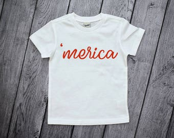 Merica Shirt, 4th of July Shirt, July 4th Toddler Shirt, Boys 4th of july shirt, Merica, Fourth of July Shirt, Merica Tee, Patriotic Shirt