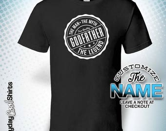 Godfather The Man The Myth The Legend, Godfather Gift, Godfather Birthday, Godfather Tshirt, Godfather Gift Idea, Baby Shower, Pregnancy