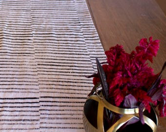 "11"" x 70"" Hand Block Steppe Table Runner / MADE TO ORDER"