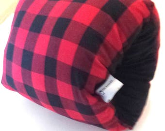 Breastfeeding arm pillow, red plaid nursing arm pillow,baby feeding pillow,cuddle upz arm pillow, feeding pillow, support pillow