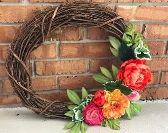 Customized Floral Wreath
