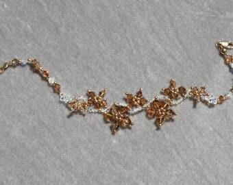 Filigree bracelet with Swarovski crystals by Loredana Di Cecco
