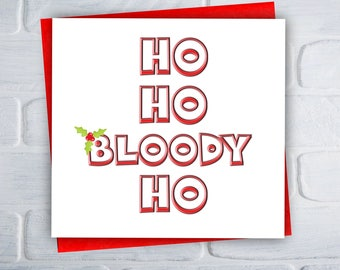 Funny Christmas Card / Rude Christmas Card / Adult Christmas Card / Offensive Christmas Card / Greeting Card / Free UK Shipping