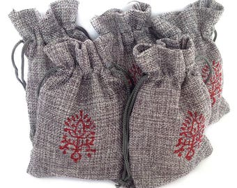 Gift pouch Hessian Jute bag drawstring pouch Favor gift bags Hessian pouch Drawstring bag Burlap favour bags Jute gift bags