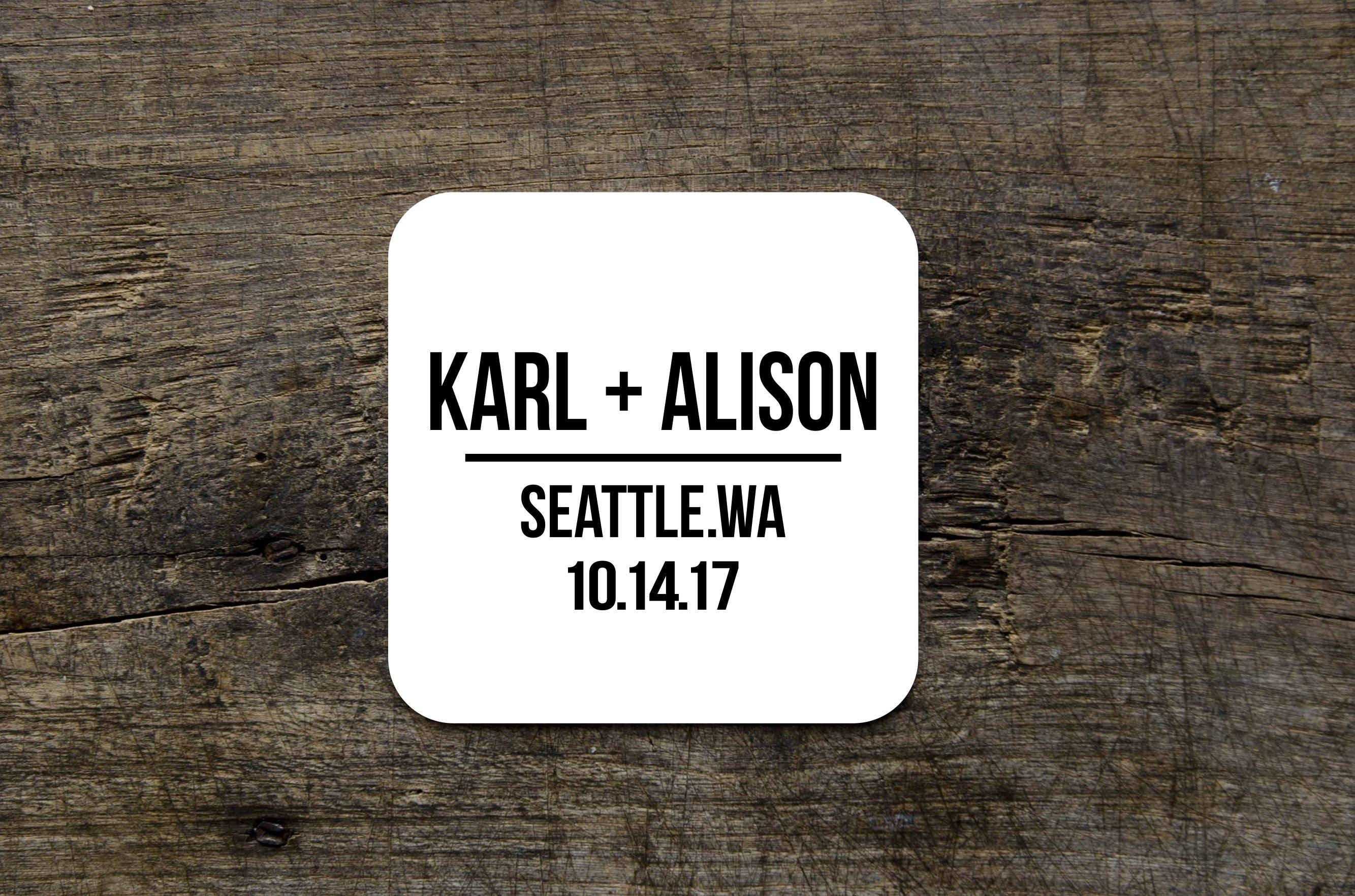 Name Coasters, Plus Sign Art, Custom Names, Bride and Groom Wedding ...