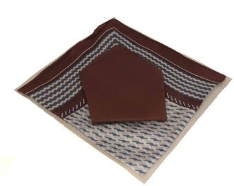 2 Piece Set Handkerchief (Solid/Pattern) Pack of 4