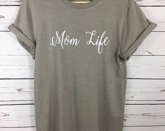 Mom Life Cuffed Sleeve Tshirt