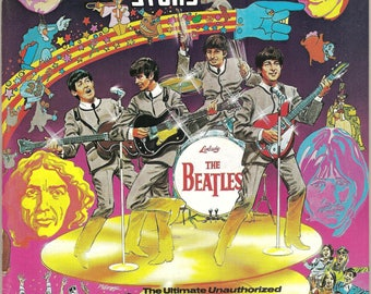 5 Vintage BEATLES Fab Four Collectable Magazines & Books  (1965-1987)