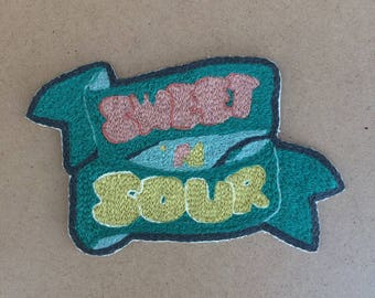 Sweet N' Sour Iron On Ribbon Patch